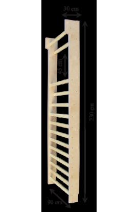 Espaldera de madera de dos cuerpos