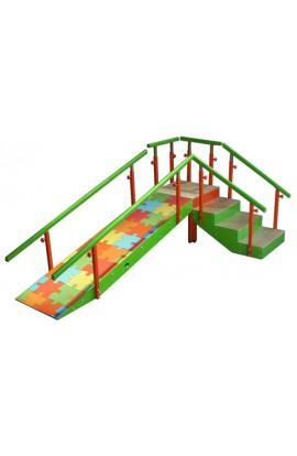 Escalera con rampa infantil de 4 peldaños